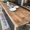 Mooie oud ehouten tafel voor 6 personen