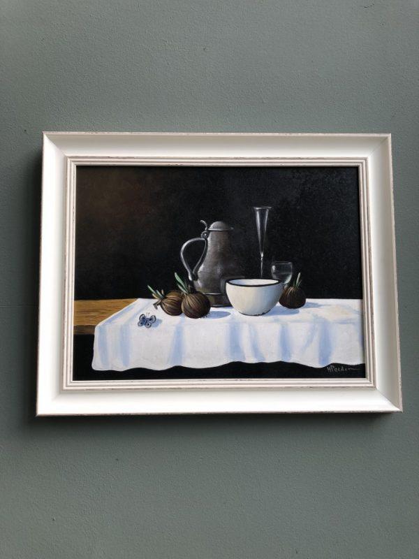 Schilderij olieverf stilleven van Nederlandse schilder