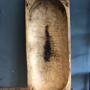 Oude houten grote trog