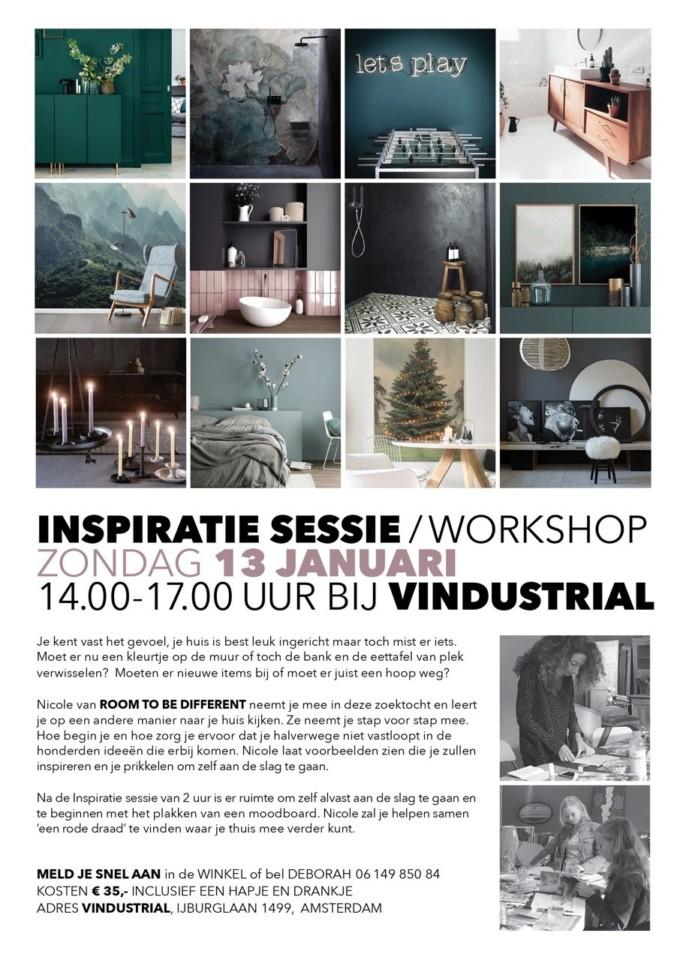 Workshop inspiratiesessie Interieurstyling, meld je nu aan