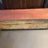 Oude houten lange kist