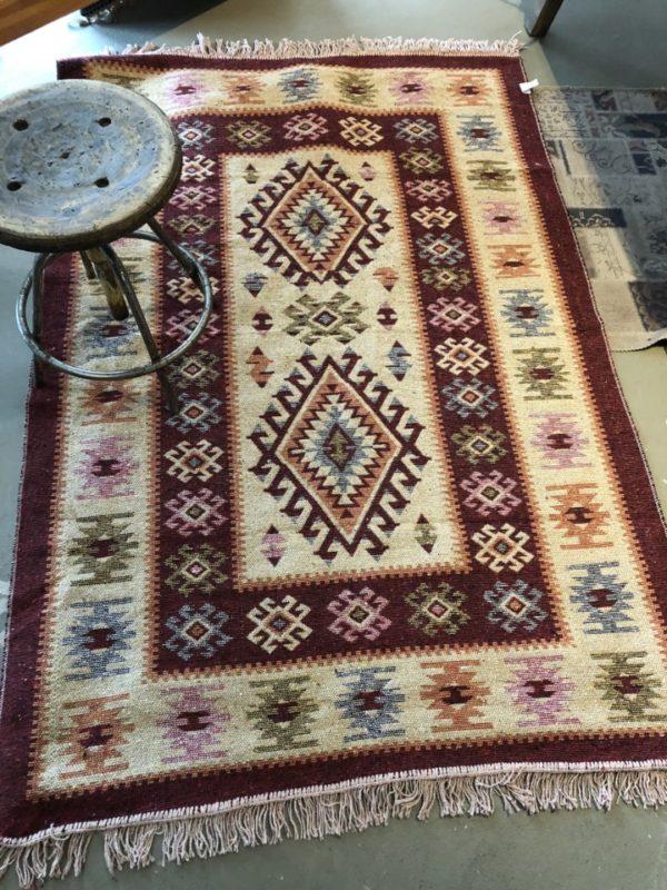 Rode Kelim tapijt, vintage look