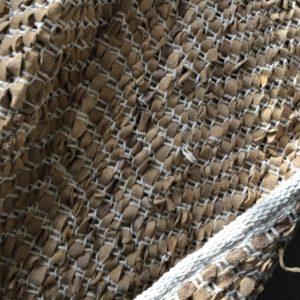 Lederen bruine kleed/tapijt