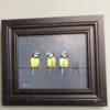Mooi olieverf schilderij, drie vogels van bekend Nederlandse schilder