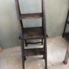 Oude houten bibliotheekladder