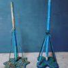 Oude industriele parasol standaard