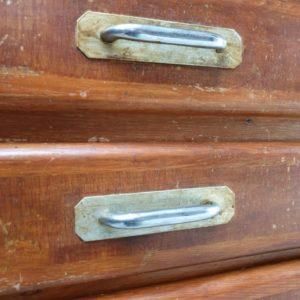 Oude vintage houten toonbank jaren 60