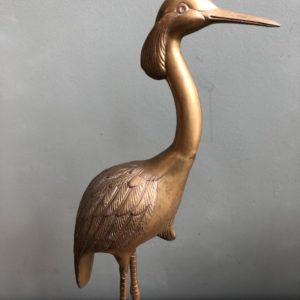 Bronzen goudkleurige Kraanvogel