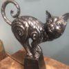 Bronzen beeld van kat