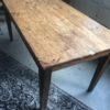Oude houten boeren (eet)tafel voor 6 personen