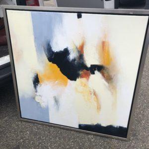 Abstract olieverf schilderij op doek van Nederlandse schilder, groot doek