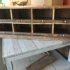 Oud houten vakkenkast met 8 compartimenten