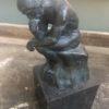 Bronzen sculptuur van Rodin Denker