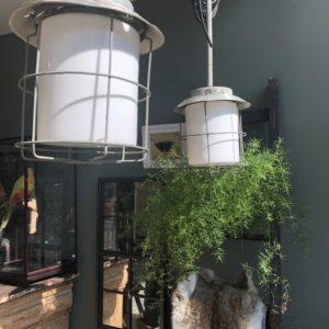 Industriele melk glazen hanglampen