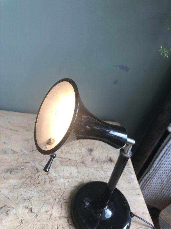 Vintage zwarte bureaulamp