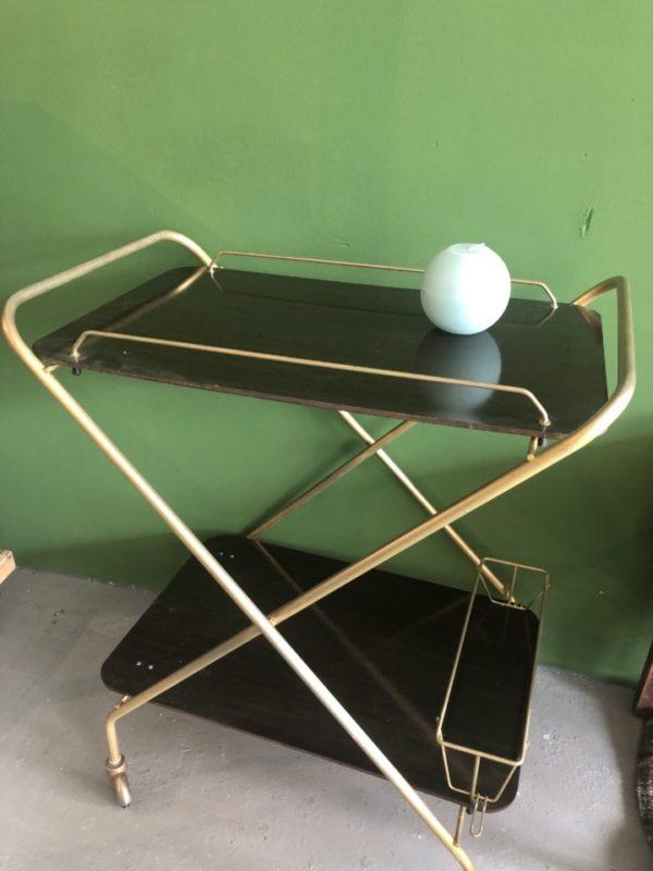 Elegante trolley op wielen, twee laags