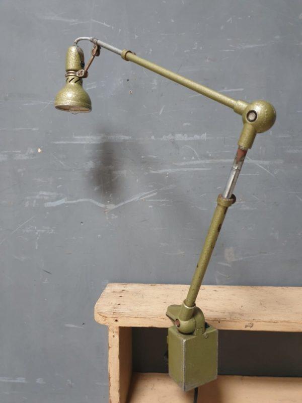 Oude Franse industriele machinelamp