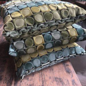 Mooie groene kussens met mooi patroon