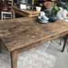 Oude houten Franse boerentafel