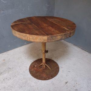 Ronde houten tafel, verstelbaar