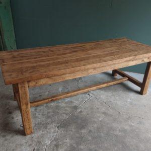 Oude Franse lange houten boeren tafel