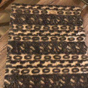 Grote oude houten batik stempel