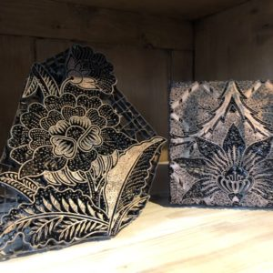Oude metalen batik stempel
