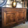 Oude houten Franse eiken wandkast met verborgen ruimte