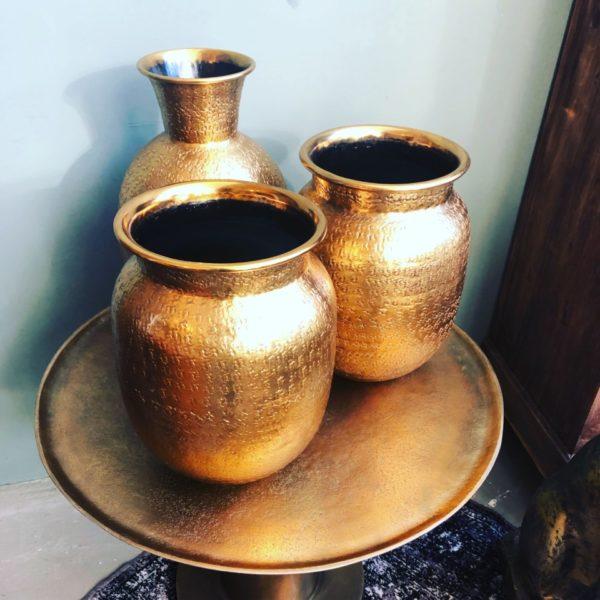 Mooie koperkleurige vaas
