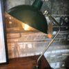Groene industriele tafellamp