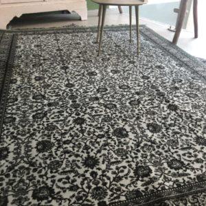 Groene vintage look tapijt