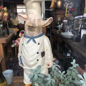 Oude houten koks (varken)
