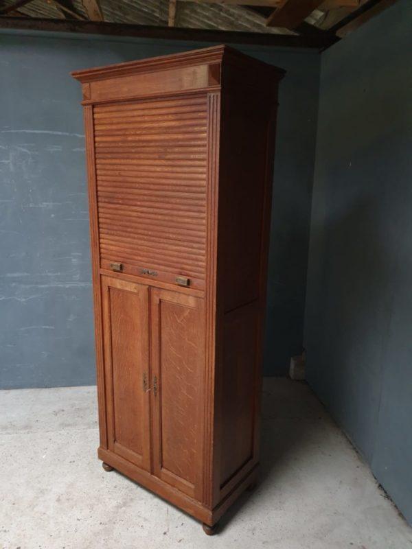 Eiken houten roldeurkast uit 1900