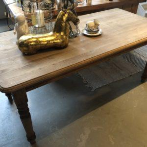 Oude eiken houten tafel 19 eeuw