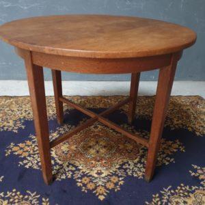 Ronde oude Hollandse eiken houten tafel