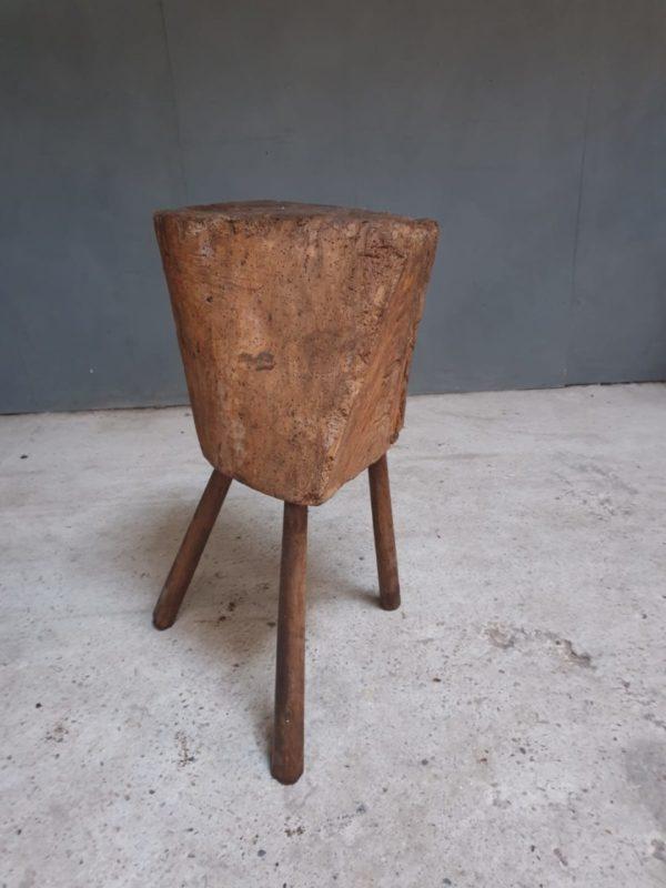 Antieke houten eiken hakblok