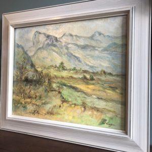 Mooi Berglandschap schilderij van Nederlandse schilder