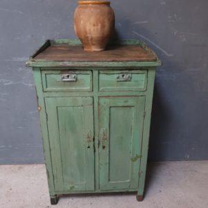 antieke groene kast