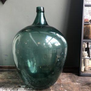 Oude grote XL groene vaas