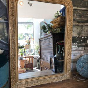 Louis Philippe antieke goudkleurige spiegel