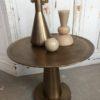 Ronde metalen goudkleurige salontafel