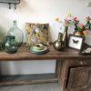 Mooi oude houten werkbank met opbergruimte en lade