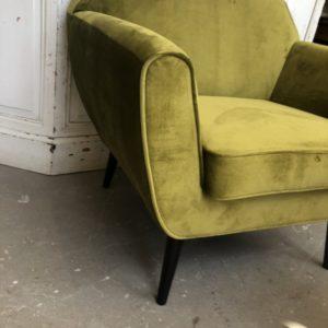 Prachtige groene relax fauteuil