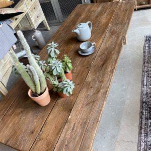 Oude Houten salontafel