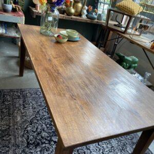 Grote oude eiken tafel met 2 laden