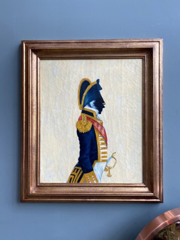Napoleon in silhouet maroufle