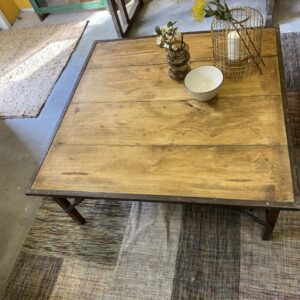 Industrial large wooden coffee table XL