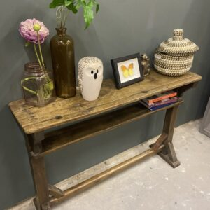 Antieke houten bureau tafel