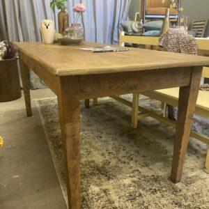 Antieke eiken houten tafel met 2 laden uit 1890