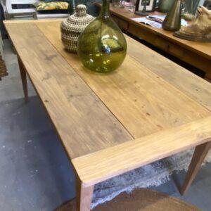 oude houten blad met 2 laden en mooi houten blad
